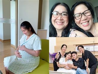 Đầy tháng con gái, Lê Phương nghẹn ngào tiết lộ mối quan hệ thân thiết của hai bên nội - ngoại