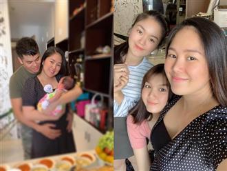 Để mặt mộc đúng chất mẹ bỉm sữa mừng đầy tháng con gái, Lê Phương bị bạn thân 'dìm hàng' không thương tiếc