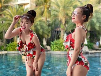 Đi du lịch cùng bạn trai Tây, vợ cũ MC Thành Trung diện bikini khoe vòng 1 căng tràn