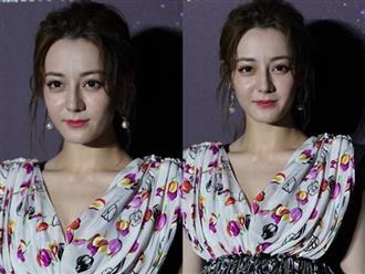 Địch Lệ Nhiệt Ba lộ dáng gầy gò, da mặt lão hóa khi không photoshop