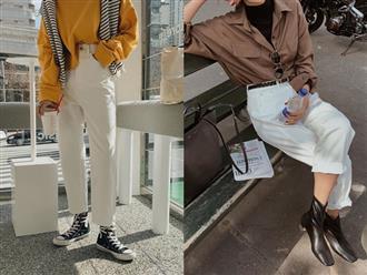 Diện jeans trắng không những mát mắt mà còn thời thượng hết cỡ nếu bạn học 4 chiêu mix đồ hay ho từ gái Hàn