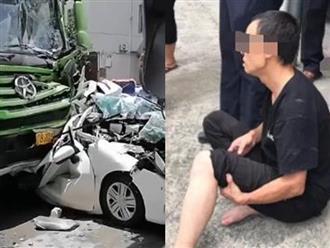 Đoạn video tai nạn giao thông liên hoàn gây chú ý MXH, nữ tài xế ngồi trong chiếc xe nhỏ khóc nức nở vì may mắn thoát chết kỳ diệu