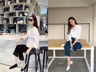 """Đối lập như Hà Tăng và Hoa hậu Thu Thảo: Cùng mê áo trắng nhưng người đậm chất công sở, người lại """"hack"""" tuổi tài tình"""