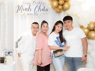 Dự tiệc sinh nhật bạn thân, Lê Phương tự tin khoe nhan sắc như thiếu nữ bên chồng trẻ