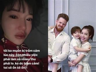 Elly Trần đăng clip khóc nức nở vì trầm cảm, rộ nghi vấn chồng Tây ngoại tình