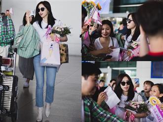 Eunjung (T-ara) khoe body nuột dù mặc giản dị tại sân bay Tân Sơn Nhất, nhưng gây chú ý hơn là thái độ của fan Việt