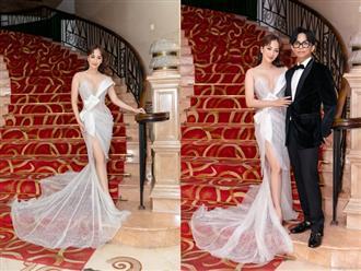 Giảm một mạch 13kg, Khánh Thi khoe vóc dáng thon gọn như gái đôi mươi khi sánh bước bên Phan Hiển