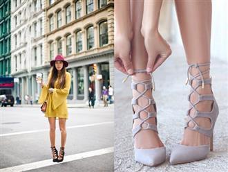 Giày cao gót buộc dây - item giúp bạn lên đồ 'xịn sò' chẳng kém fashionista