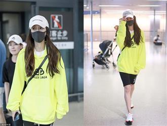 Giữa tin đồn ngoại tình, Angela Baby lặng lẽ xuất hiện ở sân bay, lộ rõ vẻ mệt mỏi