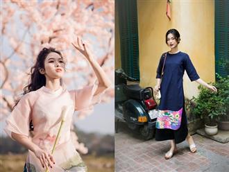 Gợi ý mẫu áo dài cách tân hiện đại, tinh tế và thanh lịch diện Tết
