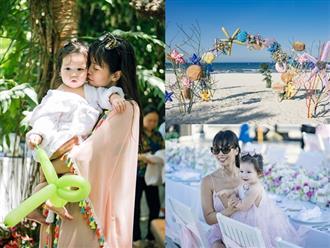 Hà Anh 'chơi lớn' tổ chức sinh nhật 1 tuổi cho con gái tại resort cao cấp, Myla cực đáng yêu khiến dân mạng mê mệt