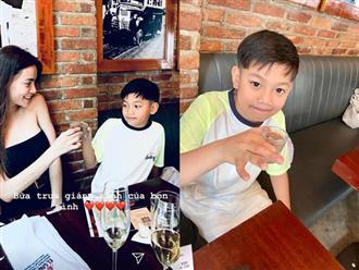 Hà Hồ cùng con trai đón Giáng sinh nhưng gây chú ý nhất là hành động của Kim Lý dành cho Subeo