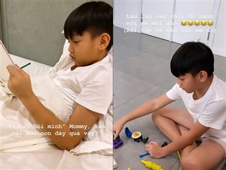 Hà Hồ khoe con trai 10 tuổi vẫn thích làm điều này cùng mẹ, tự nhận thấy 'thời gian cách ly thật diệu kỳ'