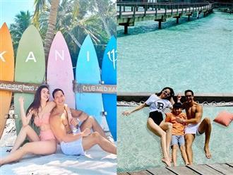 Hà Hồ và Kim Lý lại khiến fan bấn loạn khi khoe body đẹp như tạc tại Maldives, khẳng định là gia đình của nhau