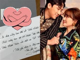 """Hari Won hé lộ thư tay """"ngọt hơn đường"""" Trấn Thành gửi 5 năm trước, hồi mới yêu chưa gì đã xưng hô lộ liễu thế này rồi"""