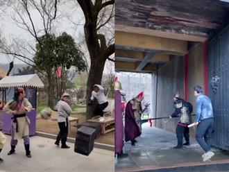 Cười tụt quần trước loạt hậu trường cực hài hước trong phim cổ trang Trung Quốc