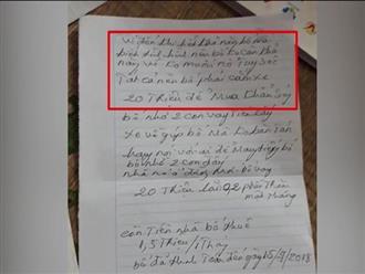 Hé lộ nội dung thư tuyệt mệnh của kẻ giết 2 vợ chồng giám đốc ở Điện Biên