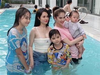 Hiếm hoi khoe ảnh chụp cùng gia đình, chị ruột Ngọc Trinh 'dìm' luôn em gái nhờ vòng 1 o ép đến nghẹt thở