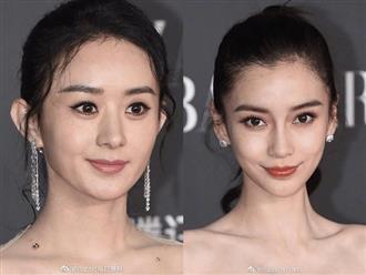 Hiếm hoi cùng xuất hiện tại một sự kiện, ảnh chưa photoshop của Triệu Lệ Dĩnh, Angela Baby và Lưu Thi Thi bị netizen đem ra so sánh