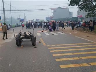 Hiện trường ngổn ngang vụ xe khách đâm đoàn người đưa tang khiến 7 người chết, 3 người bị thương nặng