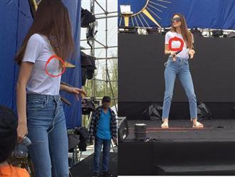 Hồ Ngọc Hà 'thả rông' luyện tập trên sân khấu, dân mạng 'nóng mắt' vì vòng 1 lồ lộ phản cảm