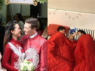 Hoàng Oanh đổ bệnh sau lễ rước dâu, đáng chú ý nhất là hành động của chồng mới cưới