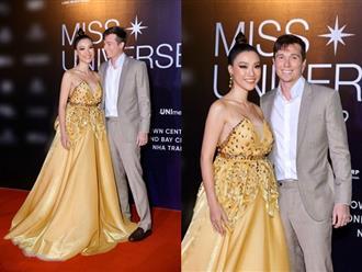 Hoàng Oanh lộ vòng 2 lớn bất thường khi lần đầu dự sự kiện cùng chồng mới cưới