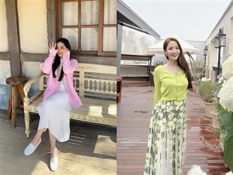Học Park Min Young 3 set đồ chuẩn đẹp mùa thu cực dễ mua dễ mặc