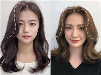 Hơn cả đánh khối, tóc mái chọn đúng sẽ vừa che mặt to trán rộng lại vừa giúp bạn xinh lên bội phần