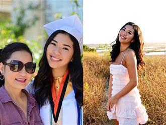 """Hồng Đào khoe con gái út cao 1m7, cực cá tính vừa tốt nghiệp cấp 3 ở Mỹ: """"Con nhà người ta"""" đây rồi!"""