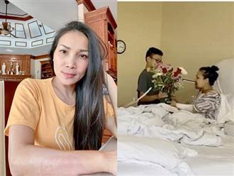 Clip xúc động ghi lại khoảnh khắc các con làm điều đặc biệt cho Hồng Ngọc, giúp mẹ phục hồi kỳ diệu sau tai nạn