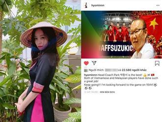 Hyomin (T-ara) đăng ảnh chúc mừng đội tuyển Việt Nam và HLV Park, cư dân mạng đồng loạt nhận làm 'con dâu quốc dân'