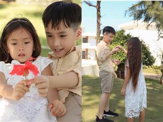 Khoảnh khắc gây sốt của nhóc tỳ nhà Thu Trang và Đoan Trang: Andy ngày càng ra dáng soái ca nhí, Sol giận hờn gì thế này?
