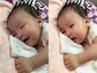 Khoe ảnh con gái tròn 3 tháng xinh như thiên thần, Lê Phương liên tục nhận về bình luận: 'Bông giống ba như đúc'