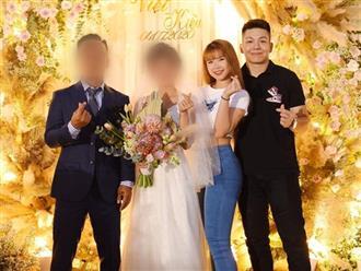 Khởi My - Kelvin Khánh quần jeans áo thun đi ăn cưới mà vẫn quá nổi: Màn tăng cân của chồng lấn át body nuột nà của vợ