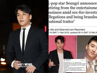 """Không chỉ châu Á, New York Times, CNN và truyền thông quốc tế """"đứng ngồi không yên"""" vì scandal rúng động của Seungri"""