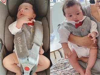 Lần đầu khoe ảnh cận mặt quý tử sau sinh 1 tháng, MC Phương Mai khiến fan bấn loạn vì vẻ đẹp lai Tây của cậu bé