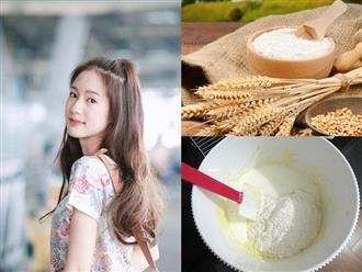 Lấy một ít bột mì làm theo cách này rồi thoa lên mặt, da bật tông trắng hồng như sao Hàn