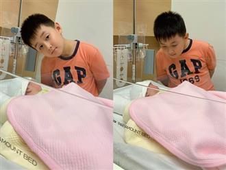 Lê Phương nghẹn ngào khoe ảnh con trai Cà Pháo lần đầu vào thăm em gái cực đáng yêu