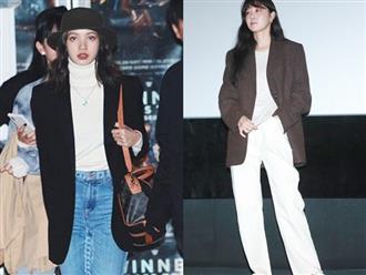 Lisa (Black Pink) và Gong Hyo Jin chênh nhau 17 tuổi nhưng cùng mê đắm lối lên đồ siêu cool mà thanh lịch cho mùa lạnh