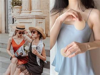 Mặc áo váy 2 dây không thể thiếu miếng dán ngực nhưng chị em phải chọn đúng loại kẻo bị chê kém sang