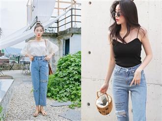 Mặc jeans rách cực đẹp với muôn vàn các cách mix đồ sau