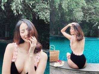 Mang thai 6 tháng, Lan Khuê vẫn tự tin diện bikini khoe dáng thon gọn cùng vòng 1 nóng bỏng