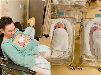 MC Thành Trung lần đầu khoe ảnh cận mặt cặp quý tử mới sinh, hé lộ tên thân mật của các con