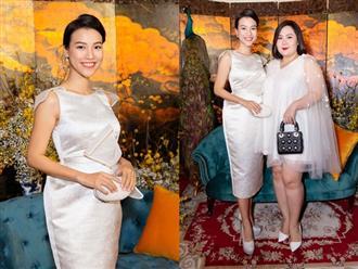 Mẹ bầu Hoàng Oanh lộng lẫy dự sự kiện nhưng lại khiến fan hoảng hồn vì chi tiết này