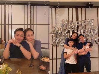 Mừng sinh nhật bà xã, Cường Đô la khoe ảnh gia đình hạnh phúc nhưng hành động của Đàm Thu Trang với Subeo mới chiếm spotlight