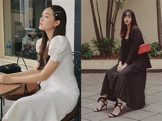 """Nàng Á hậu được ví là """"bản sao của Hà Tăng"""": Style chỉ toàn màu đen - trắng nhưng sang chảnh như tiểu thư trâm anh thế phiệt"""