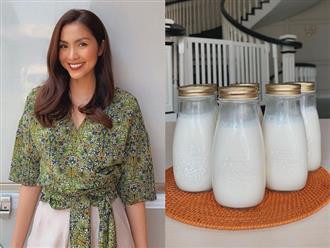 """Ngoài sử dụng quả bơ, Tăng Thanh Hà còn giữ vóc dáng săn gọn không mỡ thừa với món """"sữa thần"""" này"""