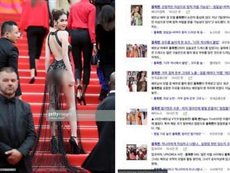 Ngọc Trinh bất ngờ lên báo Hàn sau vụ hở bạo tại Cannes, netizen xứ Kim Chi: 'Tôi thấy xấu hổ thay'