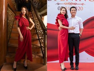 Nhã Phương diện váy đỏ quyến rũ khoe nhan sắc thăng hạng nhưng hành động đặc biệt dành cho ông xã mới gây chú ý